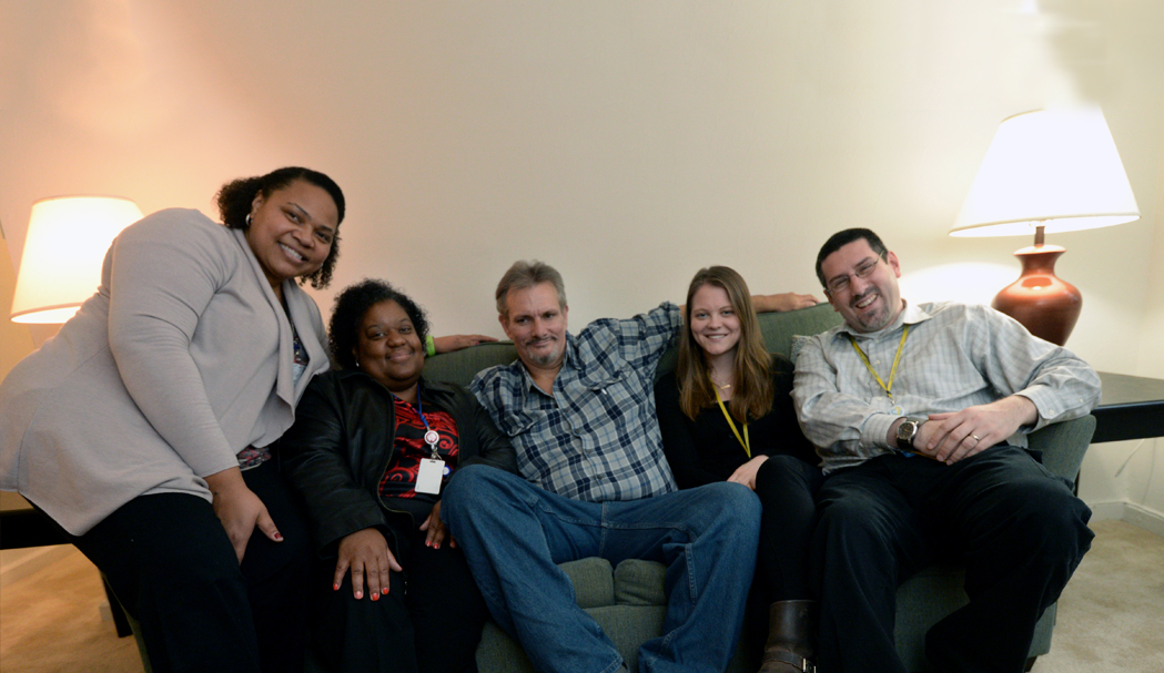 Housing First patient, Kenneth, and his care team