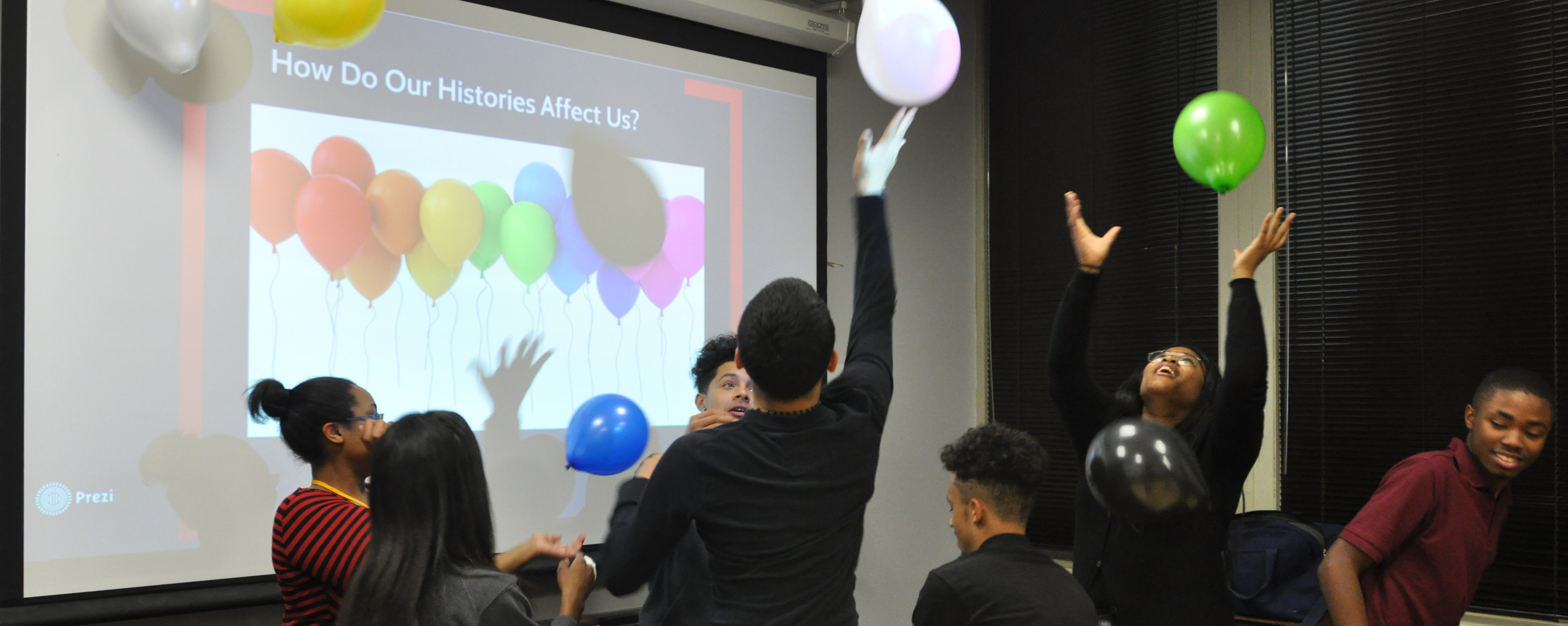 Youth Council members play a game to learn about the effects of trauma