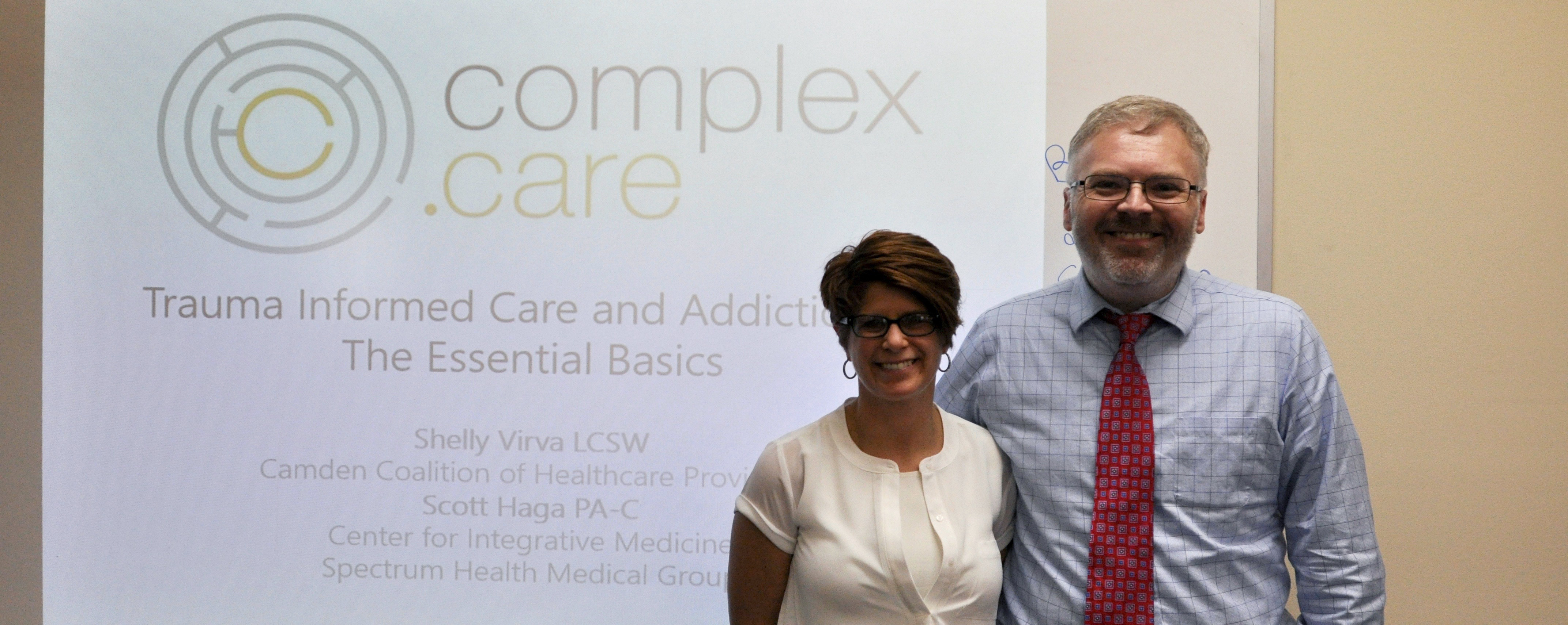 Shelly Virva and Scott Haga with their Addiction 101 training
