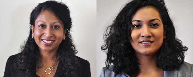 Headshots of Natassia Rozario and Shabnam Salih