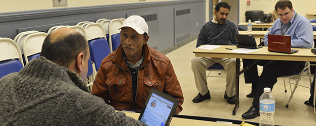 Provider asking Camden resident screening questions