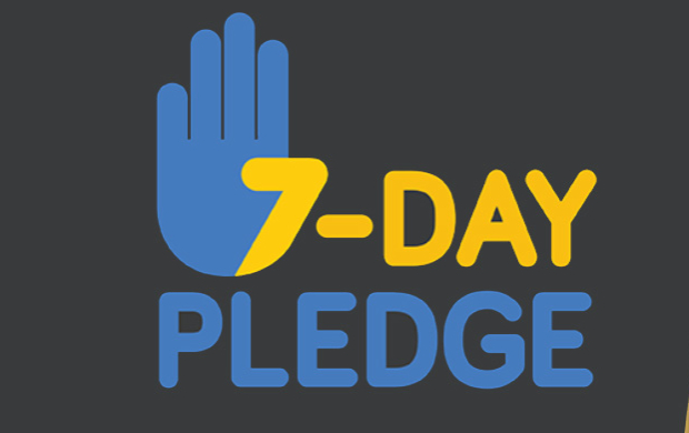 7-Day Pledge hand and office