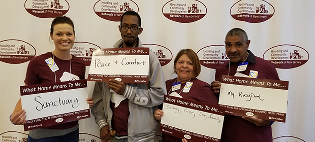 Camden Coalition staff and Community Advisory Committee members participate at the Housing and Community Development Network of New Jersey's Annual Legislative Day at New Jersey State House