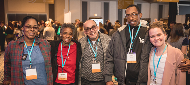 A group of 5 National Consumer Scholars at the Putting Care at the Center 2019 conference in Chicago